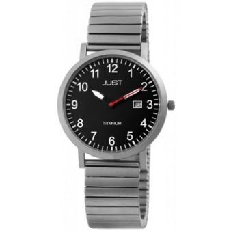 JUST montre horloges avec tirant pour les hommes