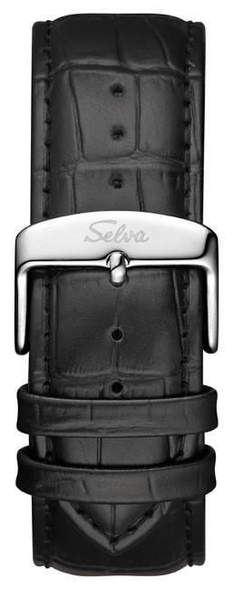 SELVA Herren-Automatikuhr »Nando« mit Gangreserve, silber/ schwarz