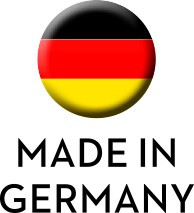 "Wecker ""Made in Germany""! Gehäuse weiß/weiß"
