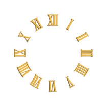 Assortiment des chiffres romains, plastique doré, L=18mm