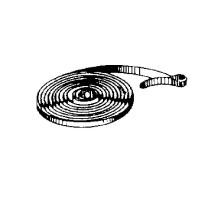 Ressort de traction avec boucle pour réveils, Largeur:4mm É:0,3mm Longueur:670mm