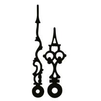 Paire d'aiguilles Eurocode antique noir Long.:60mm
