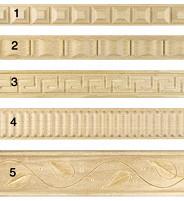 Élément décoratif moulure en bois