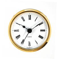 Mouvement quartz à encastrer UTS Tambour Ø 57mm, lunette Ø 65mm jaune, cadran blanc, chiffres romaine