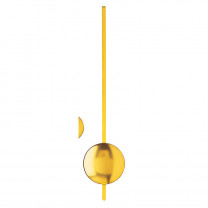 Pendule à quartz jaune L: 235mm Ø de l'objectif: 50mm