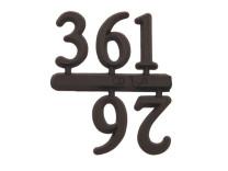 Jeu de chiffres 3-6-9-12 plastique 15mm noir chiffres arabes