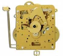 Home clock movement Hermle 261-030, 8 days, pendulum 45cm, stroke on gong, mounted in rear box, incl. 3 bar gong, weights, chains