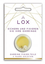 LOX - Sicherheit für Ohrstecker, anti-allergisch, 24K vergoldet