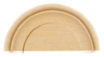 Zierteil Halbscheibe Holz