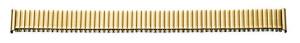 Flex-Metallband Edelstahl 16-18mm gelb PVD, poliert/mattiert mit Wechselanstoß