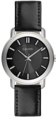 s.Oliver bracelet-montre noir SO-1899-LQ