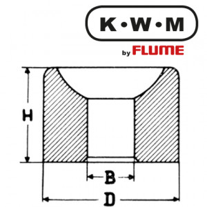 KWM-Einpresslager Messing L34, B 0,7-H 1,9-D 1,82 mm