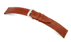 Lederband Bahia 18mm cognac mit Krokodillederprägung