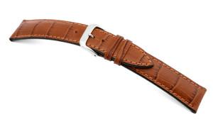 Lederband Jackson 18mm cognac mit Alligatorprägung