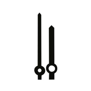 Zeigerpaar Euronorm Balken schwarz Minutenzeiger-L:30mm
