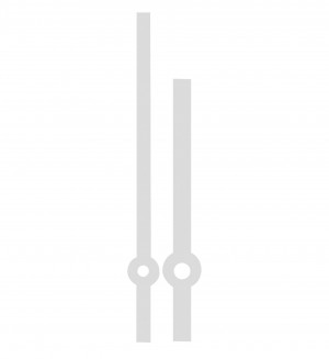 Zeigerpaar Euronorm Balken Stahl Minutenzeiger-L:70mm