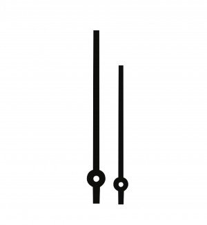 Zeigerpaar Euronorm Balken schwarz Minutenzeiger-L:105mm