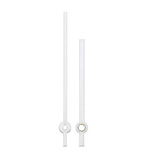 Zeigerpaar Euronorm Balken weiß Minutenzeiger-L:65mm
