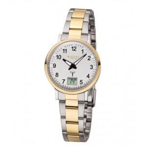 REGENT radio wristwatch, bicolour steel, ladies