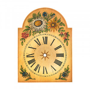Uhrschild mit 'Distel'-Dekor 250x345mm