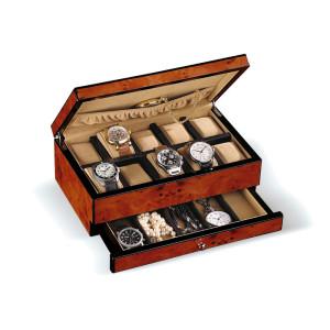Uhrenbox im Ulmenholz-Design