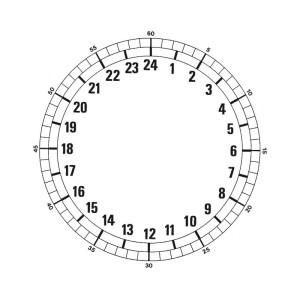 24-Std.-Zifferblatt Ø 185 mm