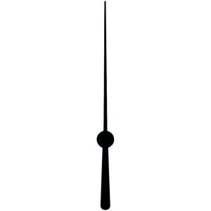 Sekundenzeiger, 52 mm, schwarz