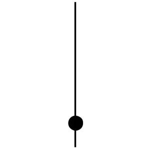 Trotteuse pour mouvements de pile, fil noir, L. d'aiguille: 80mm