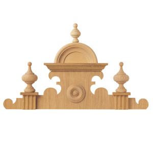 Élément décoratif rehausse en bois de hêtre