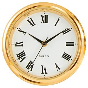 Mouvement quartz d'installer UTS Tambour Ø 31mm, lunette Ø 35mm jaune, cadran blanc, chiffres romaine