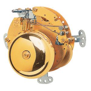 Mouvement d'horloge de la table Hermle 130-070, 8-Tage, balancier flottant , coup sur double cloche