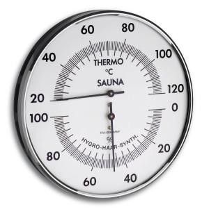 Sauna-Thermo-Hygrometer, Ø 132mm