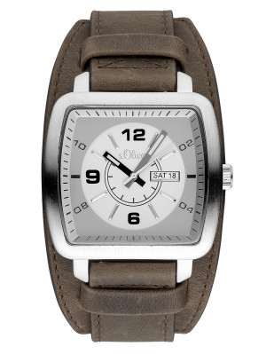 s.Oliver leather mens watch SO-3492-LQ