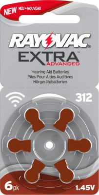 Rayovac 312 pile bouton pour l'appareil auditif