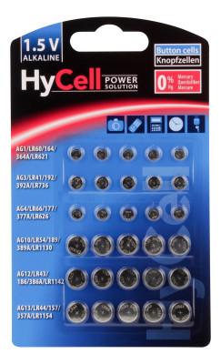Alkaline-Knopfzellen-Set