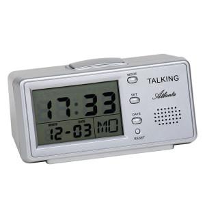 Atanta 6737 talking alarm clock silver