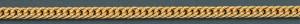 Taschenuhrkette Doppelpanzer vergoldet 30cm