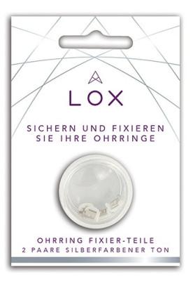 LOX - Sicherheit für Ohrstecker, anti-allergisch, versilbert