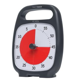Time Timer Plus, noir - 60 minutes