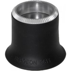 Lupe 2,5x Weichgummi schwarz geriffelter Ring No. 4