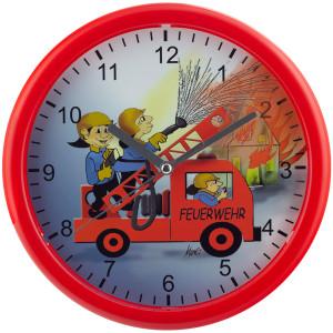 Kinderwanduhr Feuerwehr Ø 25cm, Quarz