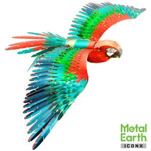 METAL EARTH 3D-Bausatz Papagei