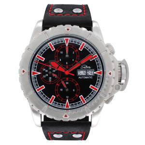 SELVA Herren-Armbanduhr »Vasco« - schwarz-rot