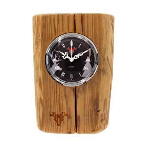 Altholz-Uhr made in Germany, Zifferblatt schwarz