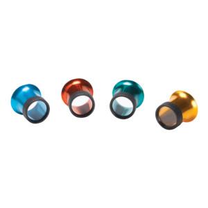 Lupen-Set aus eloxiertem Aluminium verschiedene Vergrößerungen