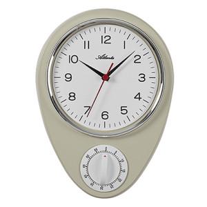 Atlanta 6114/0 Horloge pour la cuisine, blanc