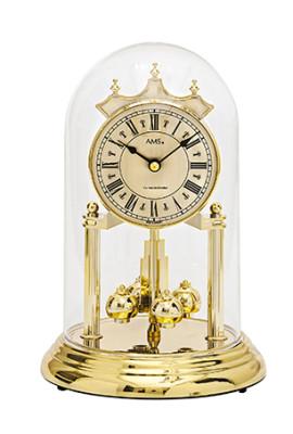 AMS Pendule 400 jours à quartz 4/4 Westminster, laiton/ verre