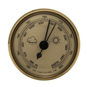 Barometer Einbau-Wetterinstrument Ø 65mm, gold