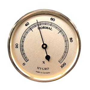 Hygrometer Einbau-Wetterinstrument Ø 85mm, gold