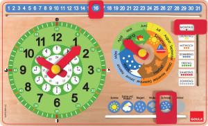 GOULA Horloge d'apprendre le temps et calendrier